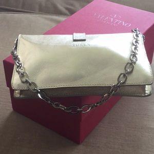 Furla gold handbag
